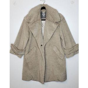 Vince Camuto Faux Fur Teddy Fuzzy Retro Swing Coat